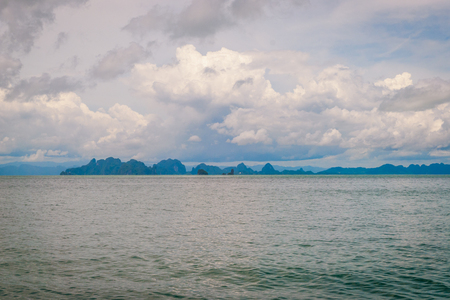 Scenic landscape of Krabi beach with islands, Thailand