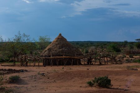 Hamer tribe village, Omo valley, Ethiopia