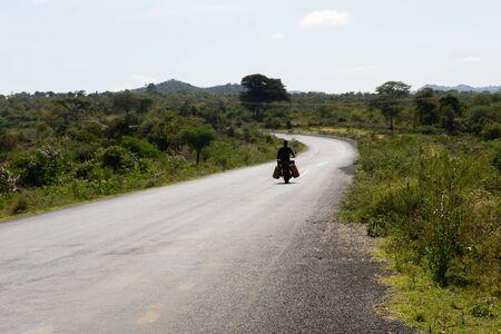 Motorbike on the road, Jinka, Ethiopia