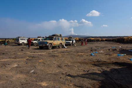 Erta Ale, Ethiopia - Nov 2018: Basecamp below Erta Ale volcano, Ethiopia Sajtókép