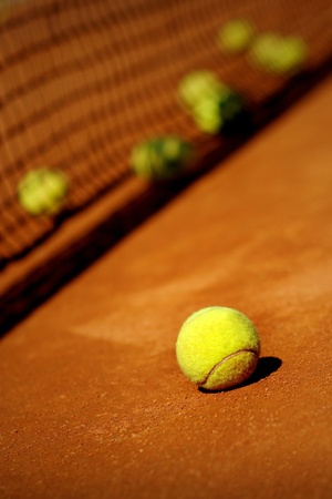 Tennis court detail photo
