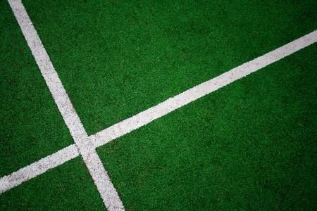 Green sport court detail photo