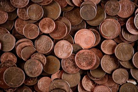 European cents background  photo