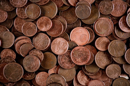 European cents background  photo