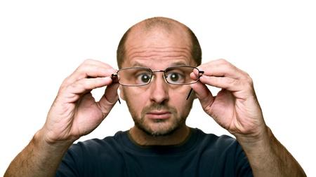 dirty man: Dirty glasses?