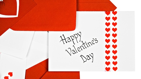 Valentines Day Cards, isolated on white  photo
