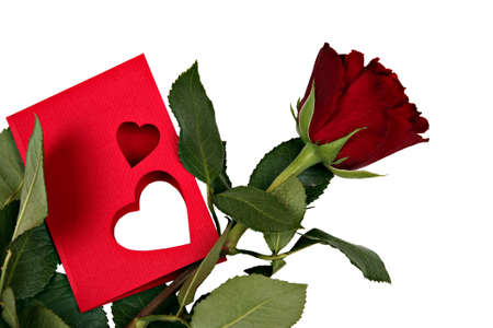 Valentine's day card with rose Stock Photo - 8802595