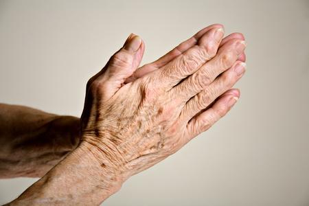 Senior hands praying Stock Photo - 8898804