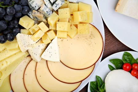 Various types of cheese photo