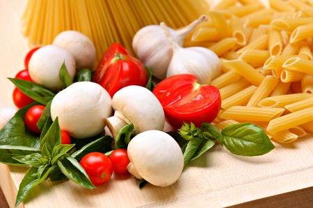 Italian pasta ingredients photo