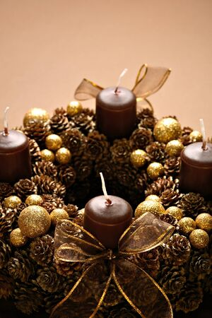 Modern Advent Wreath photo