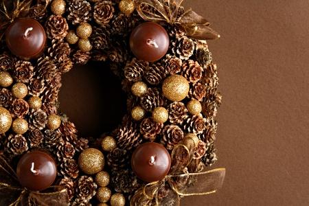 Modern Advent Wreath Stock Photo
