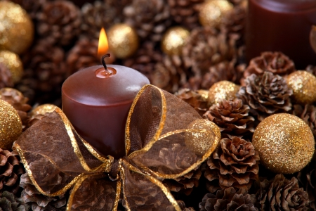 Modern Advent Wreath closeup photo