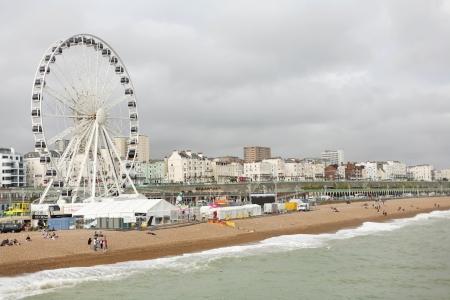 brighton beach: Brighton Beach with Ferris Wheel