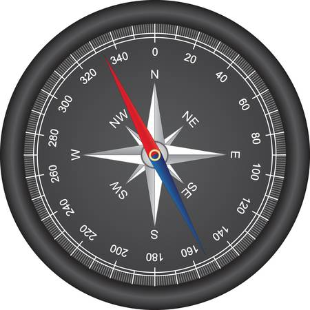 north arrow: Black compass vector  Illustration