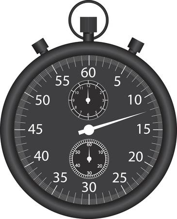 old timer: Black stop watch vector