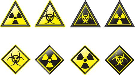Radiation  symbols  Stock Vector - 9194093