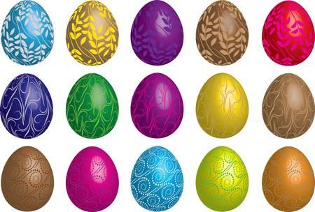 pasqua: Easter vector eggs set