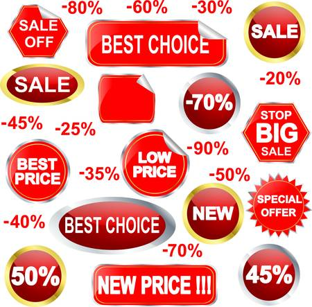 Sale stickers and labels set Stock Vector - 11126167
