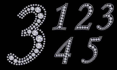 null: Diamond number set, from 1 to 9