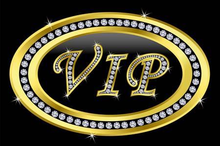 Vip with diamonds Vector