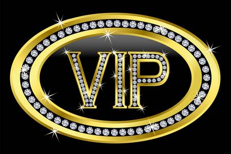 Vip with diamonds, vector  Stock Vector - 11657362
