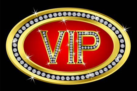 vip symbol: Vip with diamonds, vector  Illustration