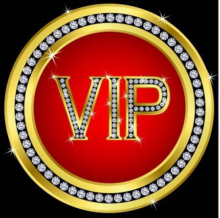 vip symbol: Vip con diamantes, el vector