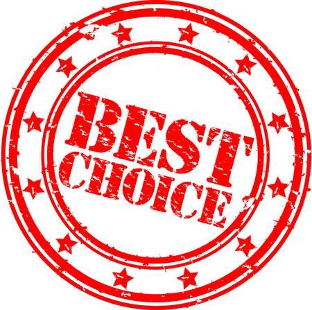 Grunge best choice rubber stamp,  illustration Stock Vector - 12239273