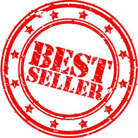 Grunge el mejor vendedor de caucho sello, la ilustración Ilustración de vector