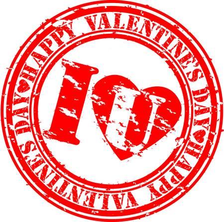 Grunge Happy Valentine Vector