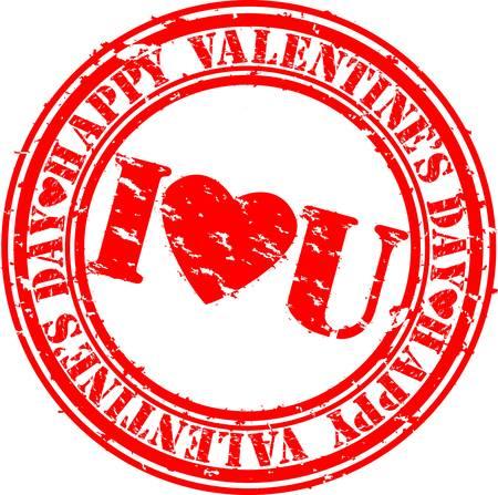 retro postcard: Grunge Happy Valentine