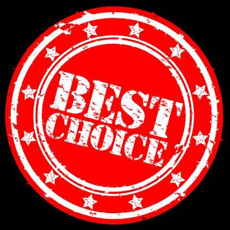 Grunge best choice rubber stamp, illustration Stock Vector - 12239285