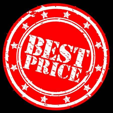 Grunge best price rubber stamp, illustration  Vector