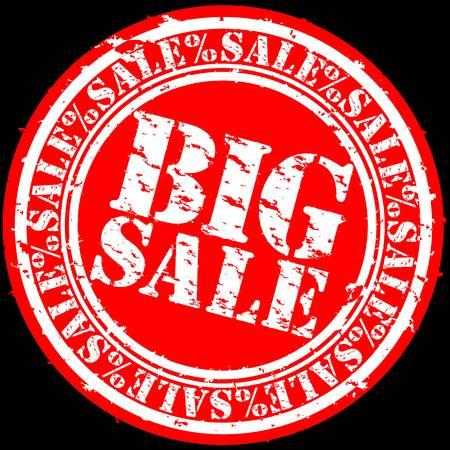 Grunge big sale rubber stamp, illustration Stock Vector - 12239288