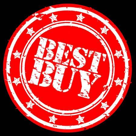 Grunge best buy rubber stamp, illustration Stock Vector - 12239290