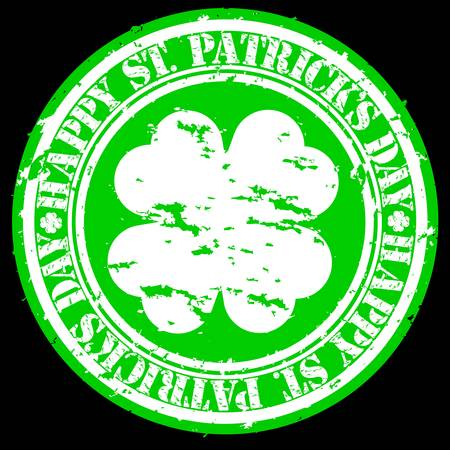 Grunge Happy Saint Patrick Vector
