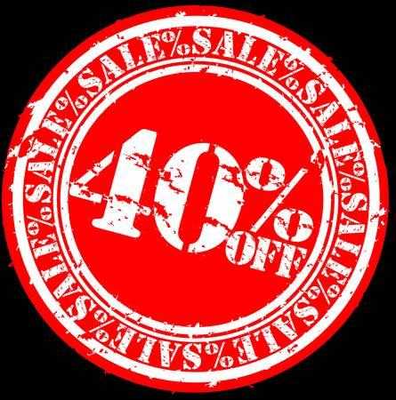 Grunge 40 percent sale off rubber stamp, illustration Stock Vector - 12239291