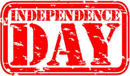 Grunge independence day rubber stamp, vector illustration Vector