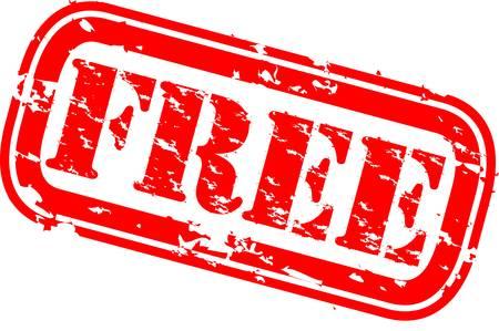 free vector: Grunge free rubber stamp, vector illustration