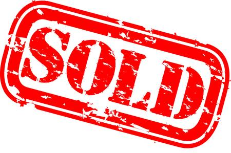 Grunge sold rubber stamp, vector illustration Stock Vector - 12484951