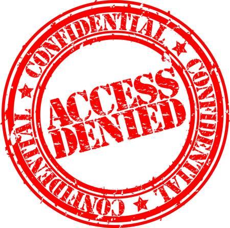 denied: Acceso denegado Grunge sello de goma, ilustraci�n vectorial