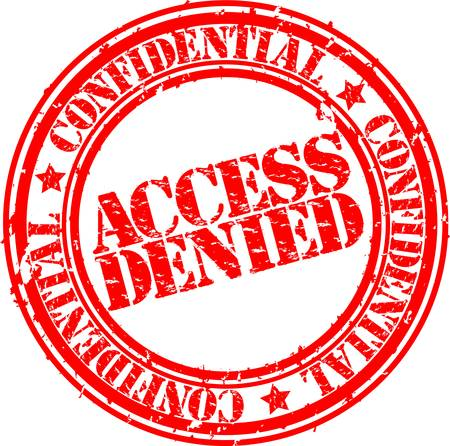 no mistake: Grunge access denied rubber stamp, vector illustration