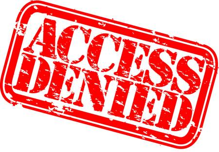 denied: Grunge access denied rubber stamp, vector illustration