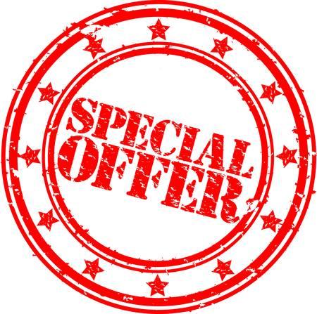 offer icon: Grunge special offer rubber stamp, vector illustration