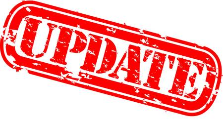 post stamp: Grunge aggiornamento timbro di gomma, illustrazione vettoriale
