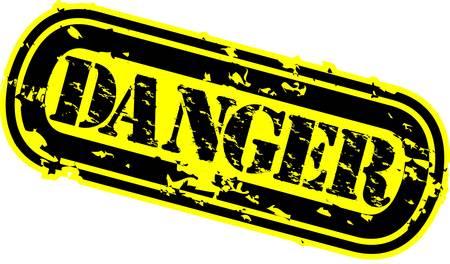 Grunge danger rubber stamp, vector illustration Stock Vector - 12484956