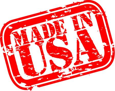 made in: Grunge made in USA rubber stamp, vector illustration