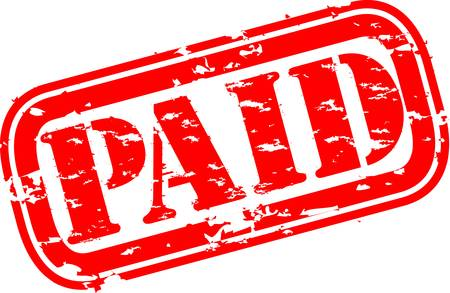 honorarios: Grunge paga sello de goma, ilustraci�n vectorial