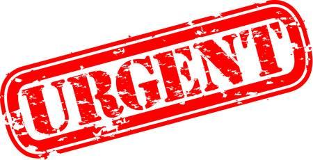 post stamp: Grunge timbro urgente, illustrazione vettoriale